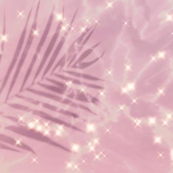Fond d'image rose scintillant feuille tropicale