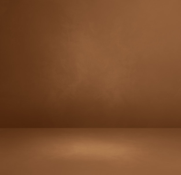 Fond intérieur en béton brun. scène de modèle vide