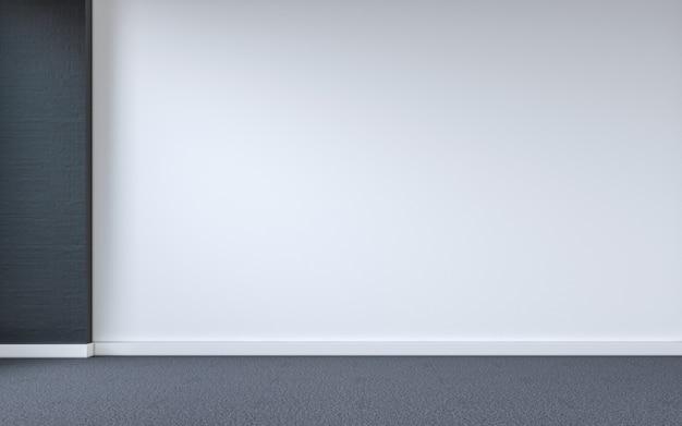 Fond intérieur de la salle vide. rendu 3d