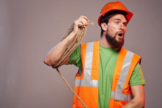 Fond isolé de l'industrie de la profession dure de l'homme. photo de haute qualité