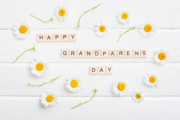 Fond de jour heureux grands-parents