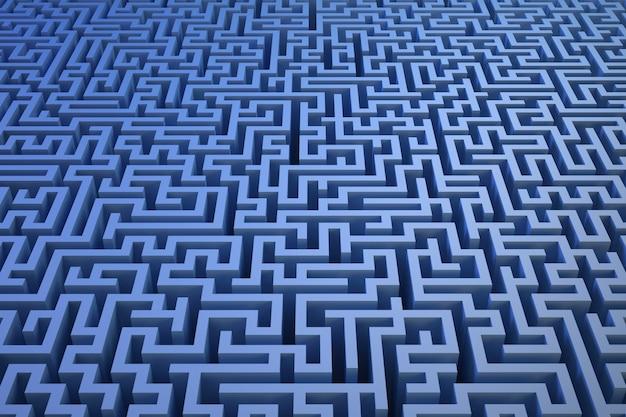 Fond de labyrinthe 3d
