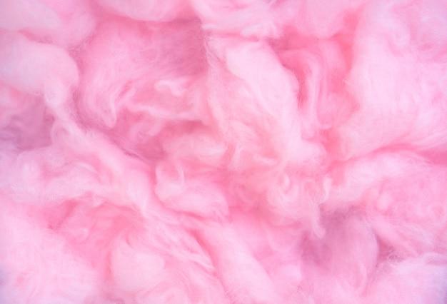 Fond de laine de coton rose, texture de barbe à papa douce couleur douce duveteuse abstraite