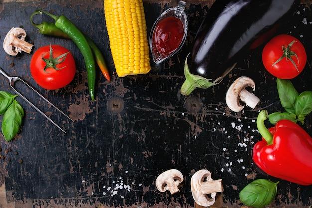 Fond de légumes bbq