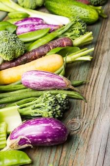 Fond de légumes frais