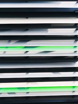 Fond de lignes horizontales de jalousie extérieure en métal