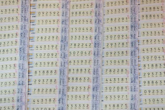 Fond de la loterie en thaïlande