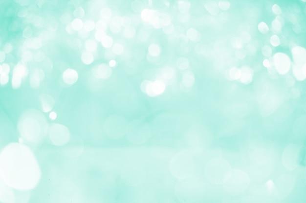 Fond de lumières abstrait bokeh pastel vert biscay.