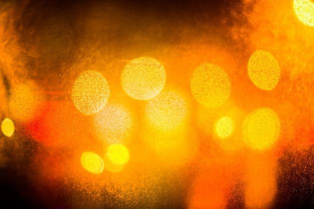 Fond de lumières bokeh défocalisé coloré. abstrait de l'éblouissement de la ville.