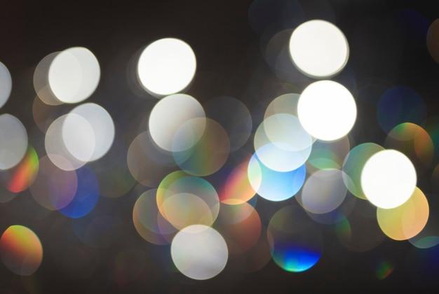 Fond de lumières bokeh doré chaud