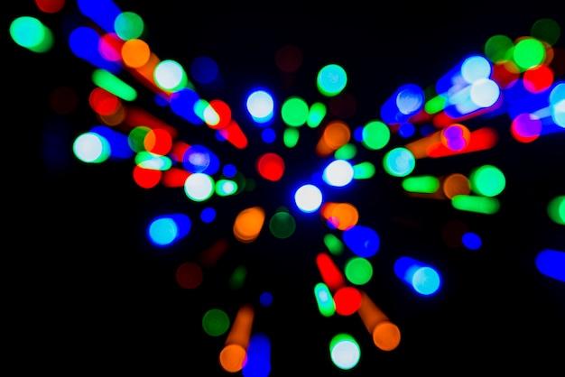Fond de lumières colorées bokeh