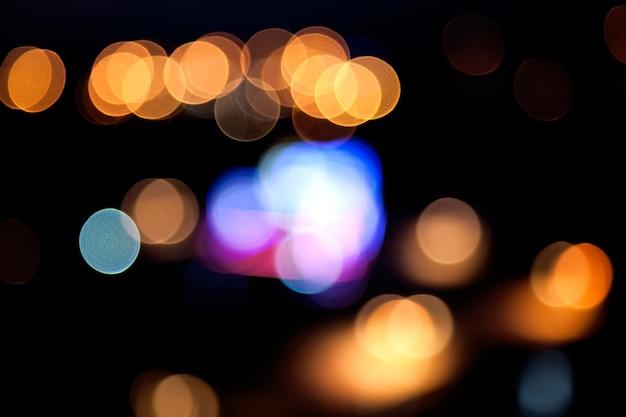 Fond de lumières défocalisé