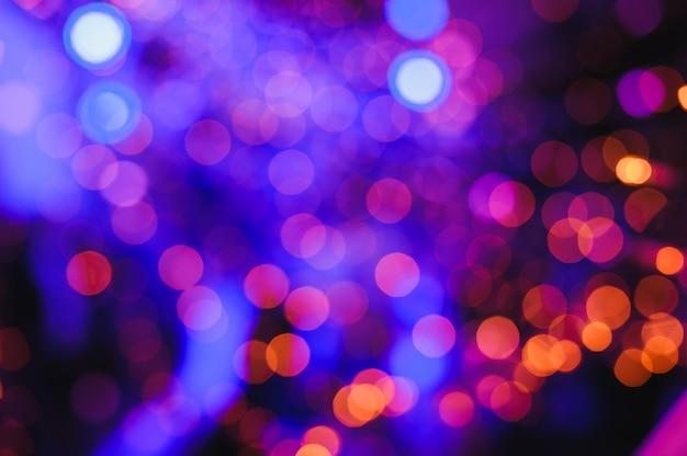 Fond de lumières défocalisés
