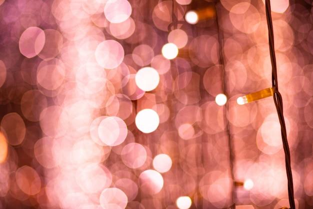 Fond de lumières floues bokeh rose
