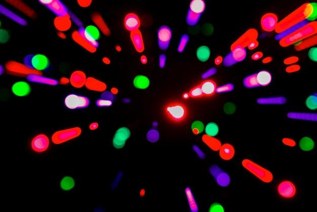 Fond de lumières floues
