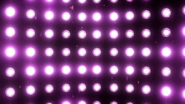 Fond de lumières d'inondation lumineuses avec des particules
