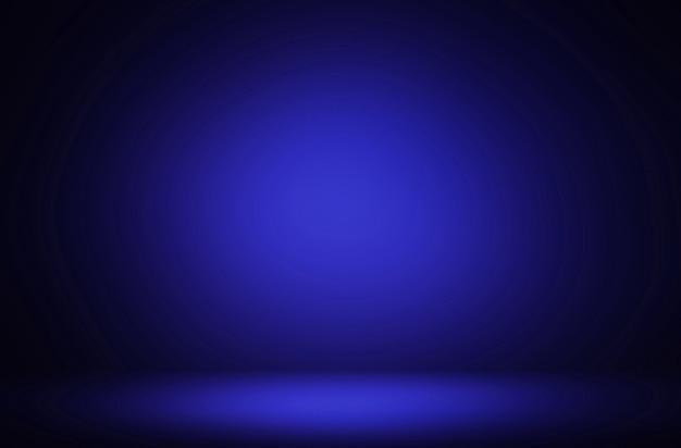 Fond de luxe d'affichage dégradé bleu foncé abstrait premium