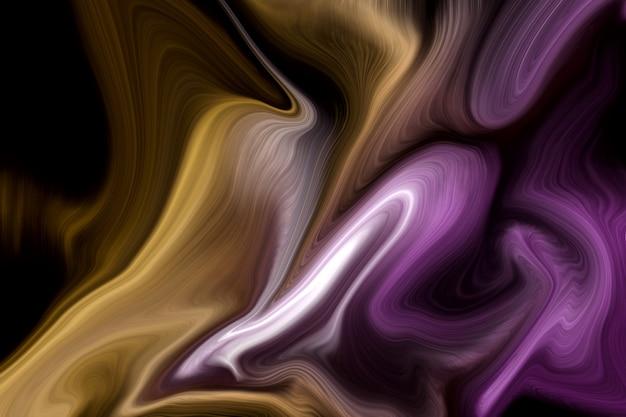 Fond de luxe de couleurs liquides violet et or