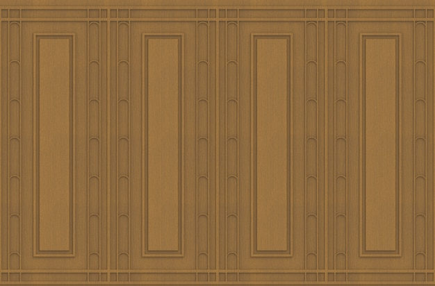 Fond de luxe de forme carrée classique modèle mur en bois brun.