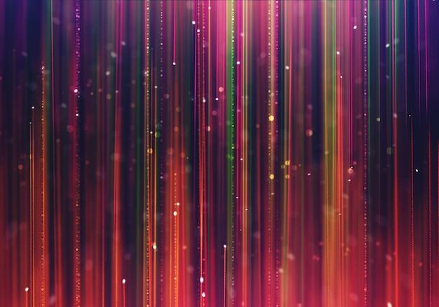 Fond de luxe glamour avec des rayons colorés