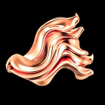 Fond de luxe avec tissu draperie or. illustration 3d