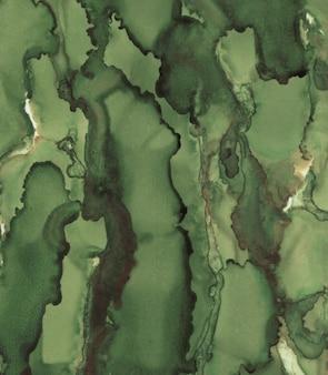 Fond de magie vert. texture de peinture encrée.