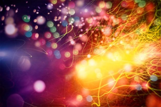 Fond magique avec couleur fond festif avec bokeh naturel et lumières dorées lumineuses. fond de magie vintage