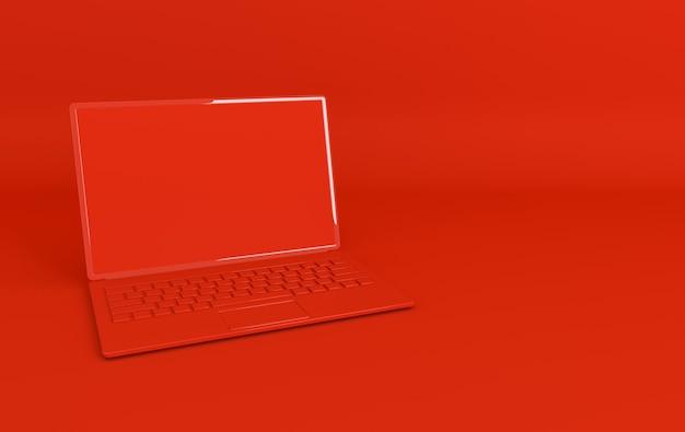 Fond de maquette d'ordinateur portable dans un style minimaliste moderne
