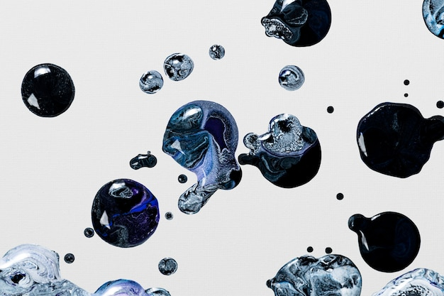 Fond de marbre liquide gris et noir bricolage abstrait fluide texture art expérimental