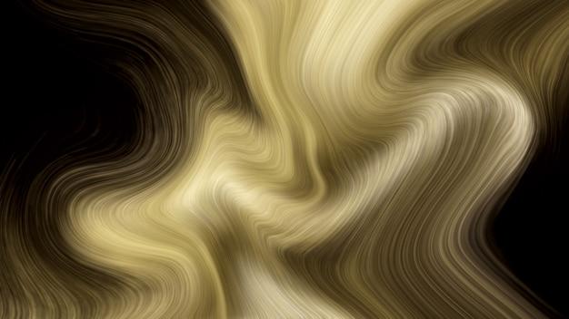 Fond de marbre liquide de luxe doré