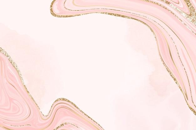 Fond de marbre rose avec doublure dorée
