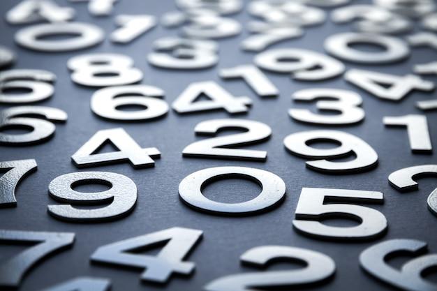 Fond de mathématiques fait avec des nombres solides
