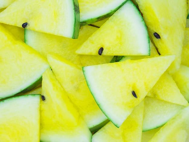 Fond de melon d'eau jaune