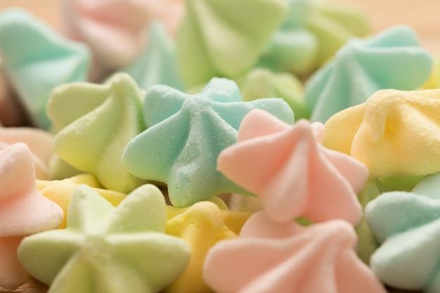 Fond de meringues couleur bonbon
