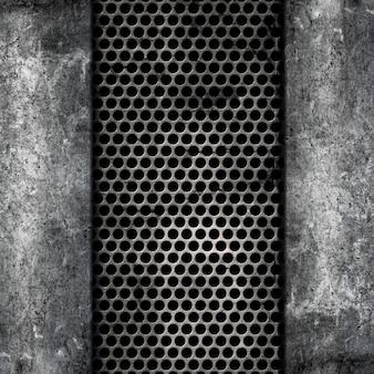 Fond métal et béton