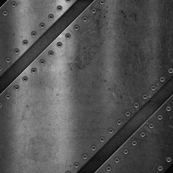 Fond de métal grunge rayé