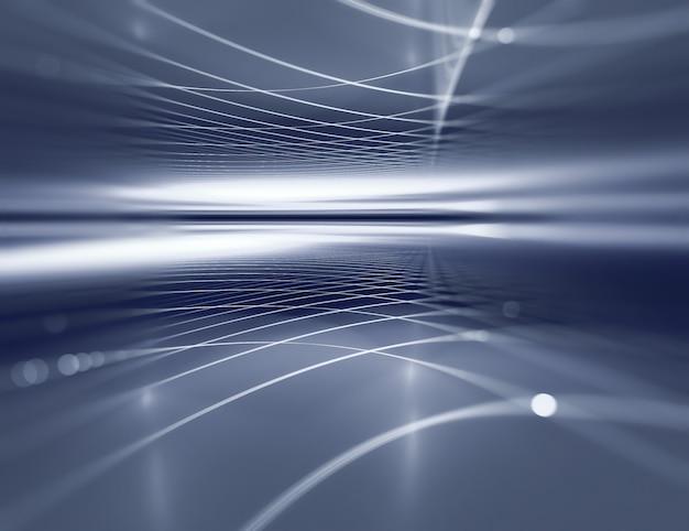 Fond de métal horizon bleu