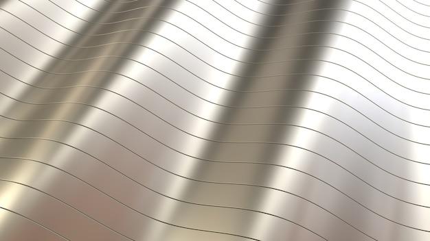 Fond de métal de lignes lisses de rendu 3d