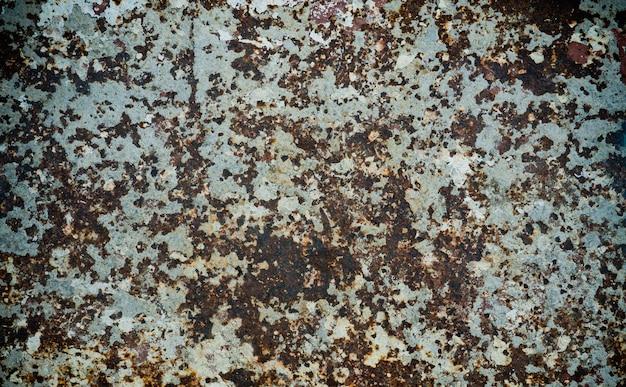 Fond en métal rouillé, acier en décomposition, texture en métal avec rayures et fissures