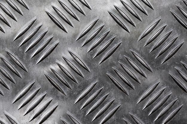 Fond métallique argenté avec trous de ventilation