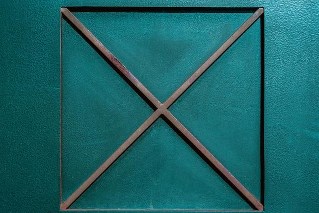 Fond métallique brillant avec la croix de fer
