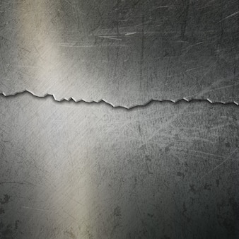 Fond métallique grunge avec un effet fissuré