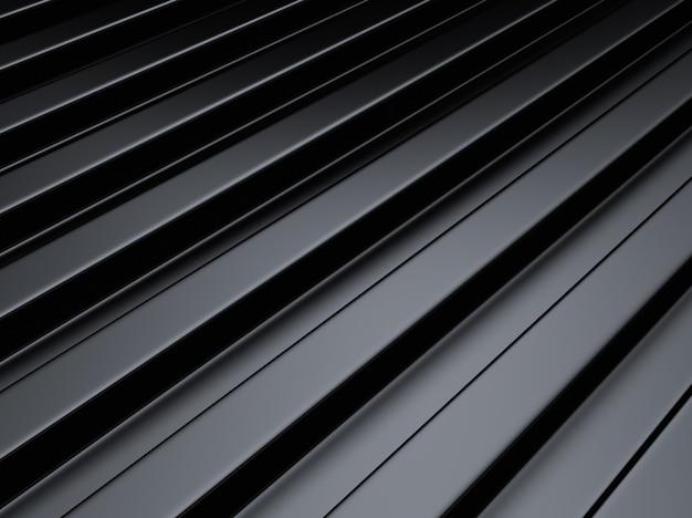 Fond métallique industriel noir avec des lignes ou des barres