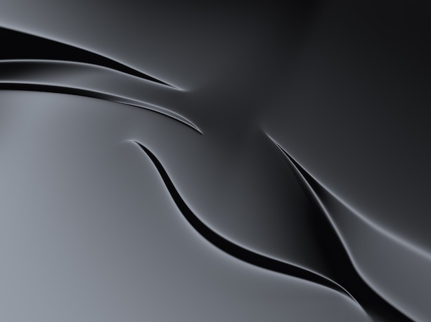 Fond métallique noir élégant avec des lignes et des formes