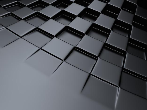 Fond métallique noir avec motif d'échecs
