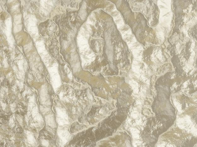 Fond métallique ondulé abstrait rendu 3d