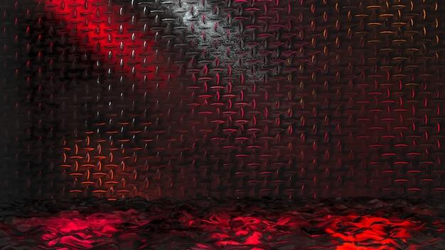 Fond métallique rendu 3d coloré