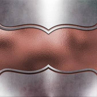 Fond métallique avec texture or rose