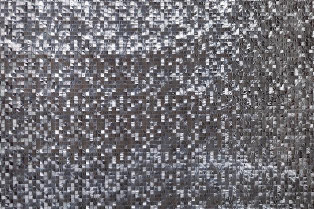 Fond métallique tridimensionnel argenté
