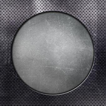 Fond métallisé avec cercle découpé
